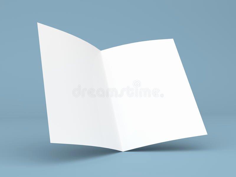 Folded Business Card Template Inspirational Blank Folded Flyer Booklet Business Card Brochure