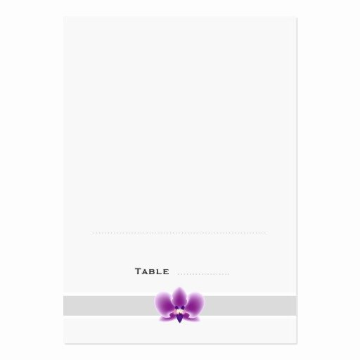 Folded Business Card Template Luxury Dark Purple orchid Folded Place Cards Business Card