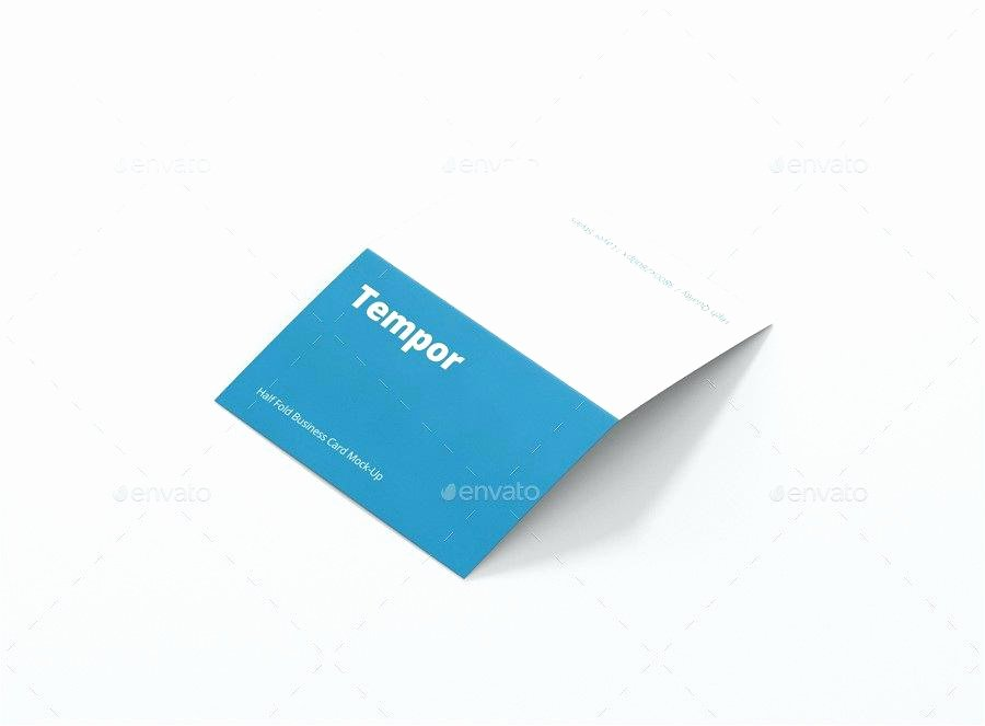 Folded Business Card Template Luxury Tri Fold Business Card Template Publisher Business Card