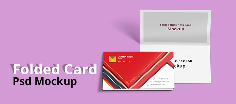 Folded Business Card Template New 25 Free Best Design Psd Mockup Templates Techclient