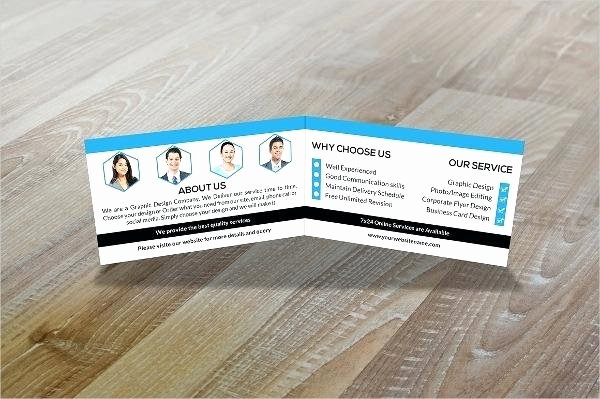 Folded Business Card Template New Tri Fold Business Cards Template Folded Business Cards