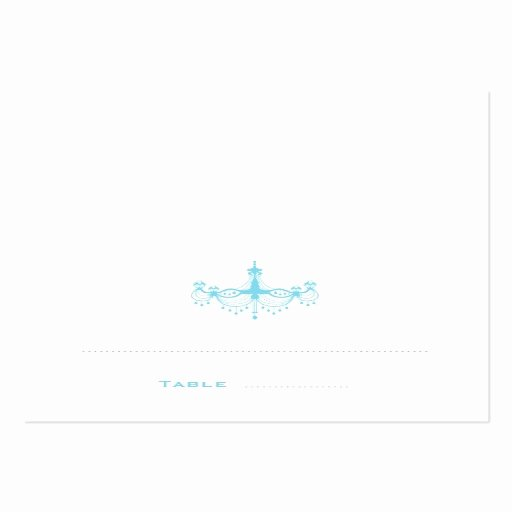 Folded Business Card Template Unique Blue Chandelier Folded Place Cards Pack Chubby Business