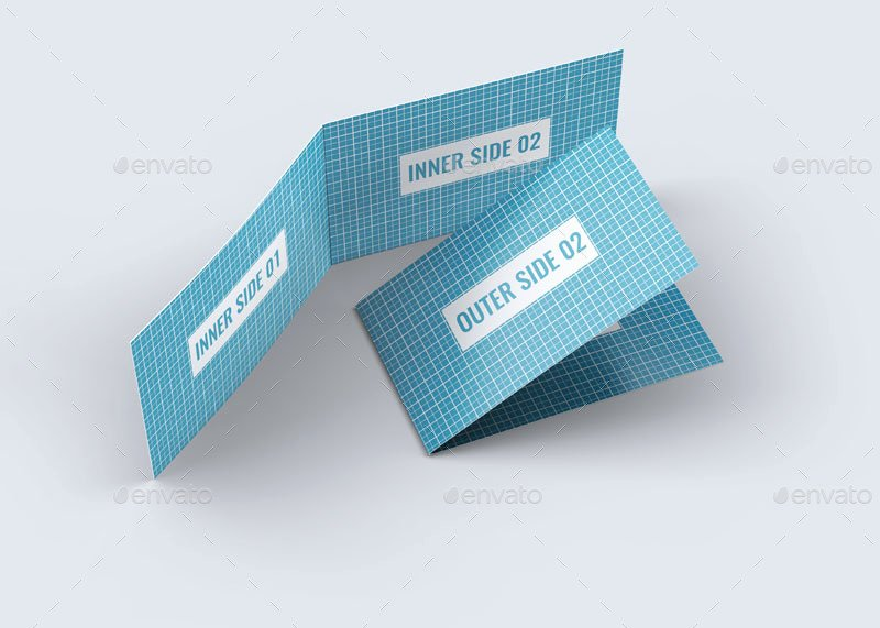 Folded Business Cards Template Awesome Folded Business Card Mock Up by L5design