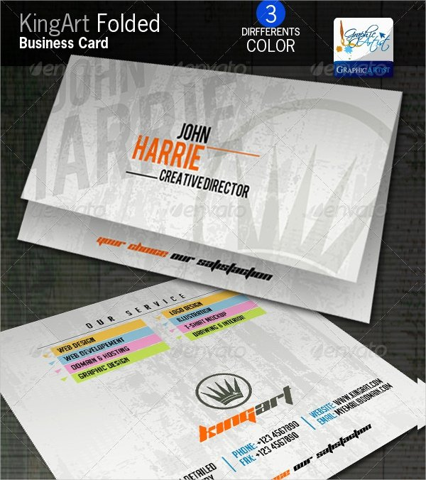 Folded Business Cards Template Fresh 22 Folded Business Cards Psd Ai Vector Eps