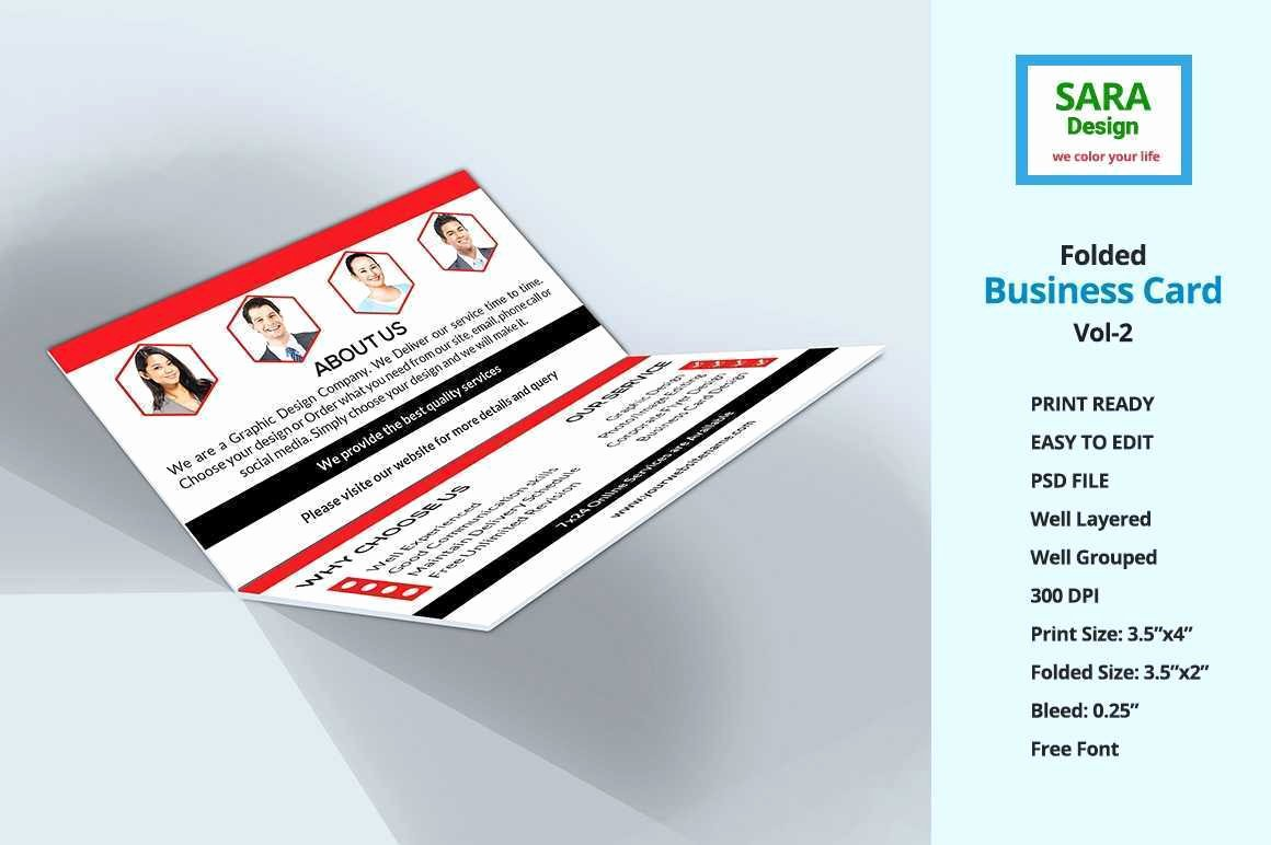 Folded Business Cards Template Fresh Folded Business Cards Template Fresh Corporate Folded