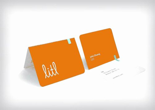 Folded Business Cards Template Luxury Folded Business Cards Design