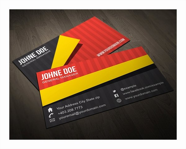 Folded Business Cards Template Unique 22 Folded Business Cards Psd Ai Vector Eps