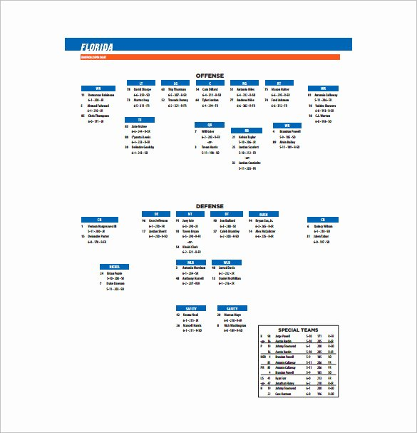 Football Depth Chart Template Excel Awesome 9 Football Depth Chart Templates Doc Pdf Excel