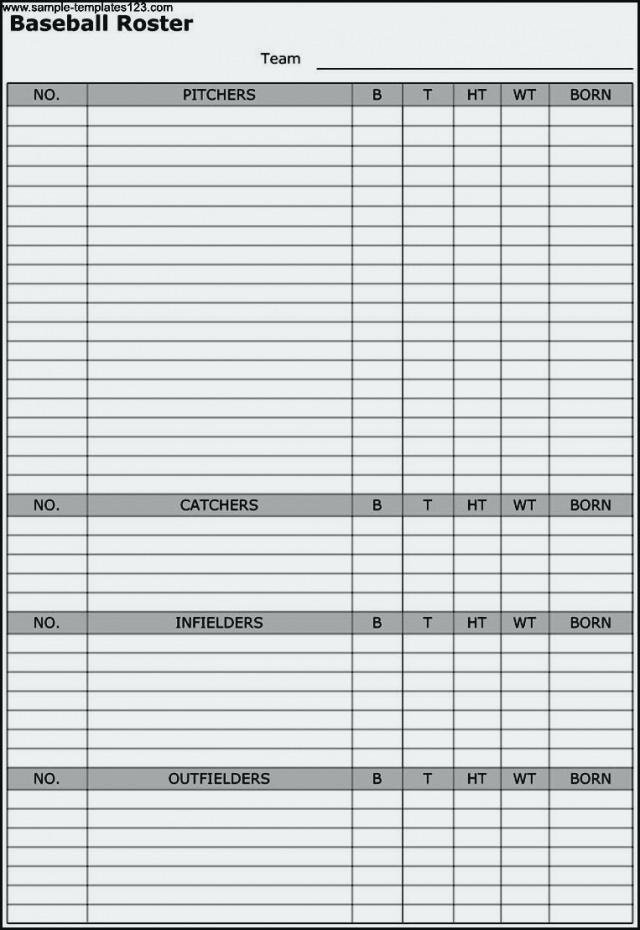 Football Depth Chart Template Excel Best Of Printable Baseball Lineup Card Template In Depth Chart