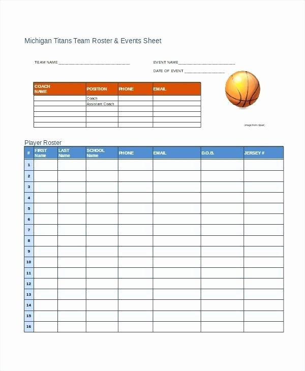 Football Depth Chart Template Excel Best Of Youth Football Roster Template Beautiful Baseball Little