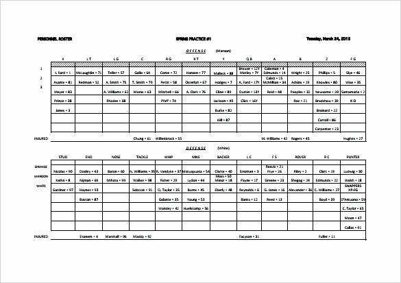 Football Depth Chart Template Excel Elegant Charting Football Plays Template – Meetwithlisafo