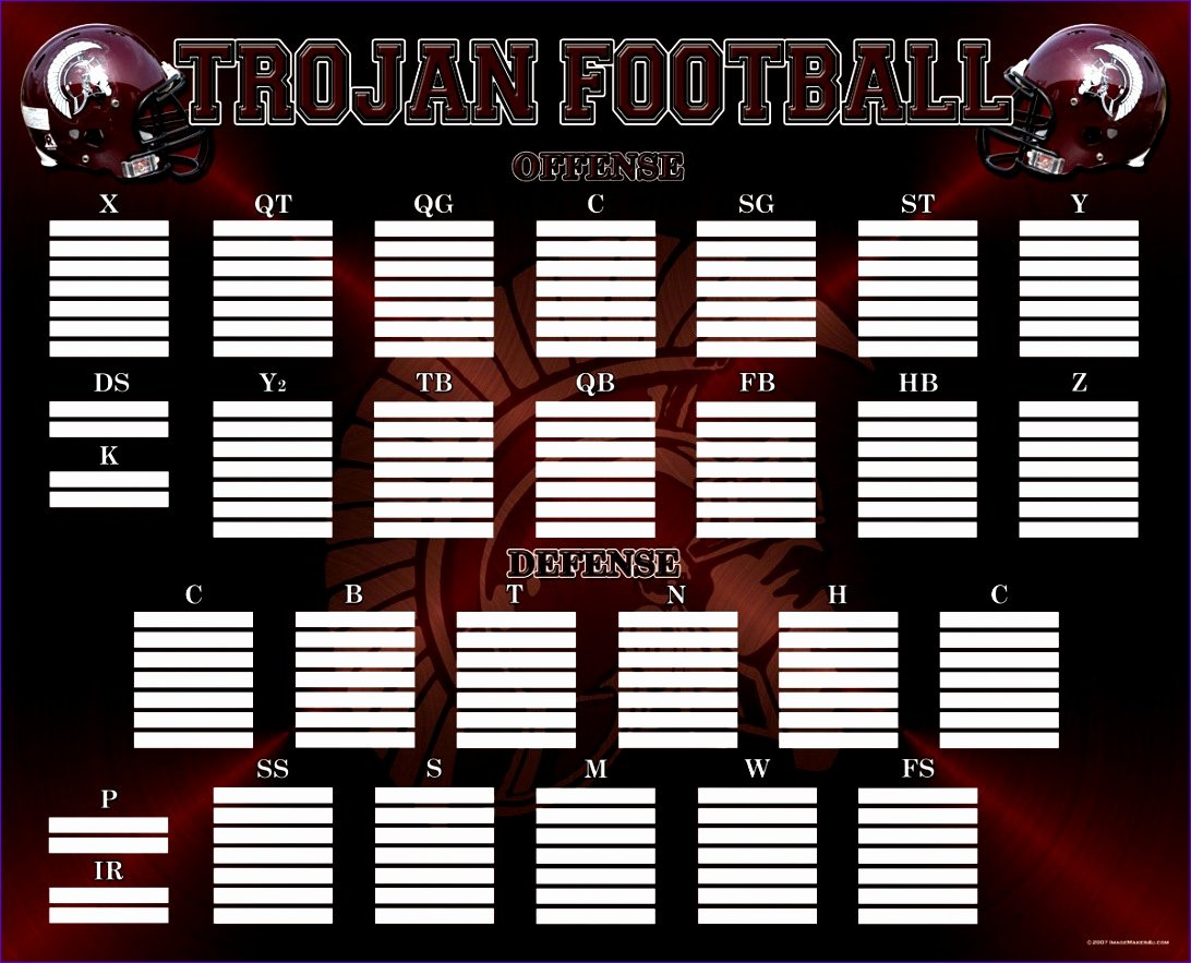 Football Depth Chart Template Excel Lovely 10 Football Depth Chart Template Excel Exceltemplates