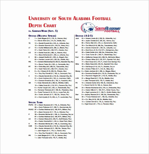 Football Depth Chart Template Excel Luxury Football Depth Chart Template Excel format – thedl
