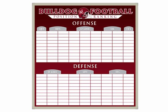 Football Depth Chart Template Excel New Football Depth Chart Template Excel format Templates Station
