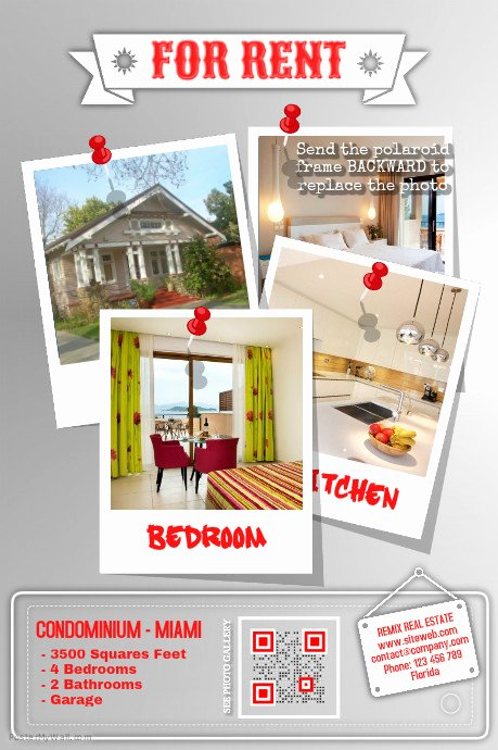For Rent Flyer Template Free Awesome Home Rental Flyer Red Template