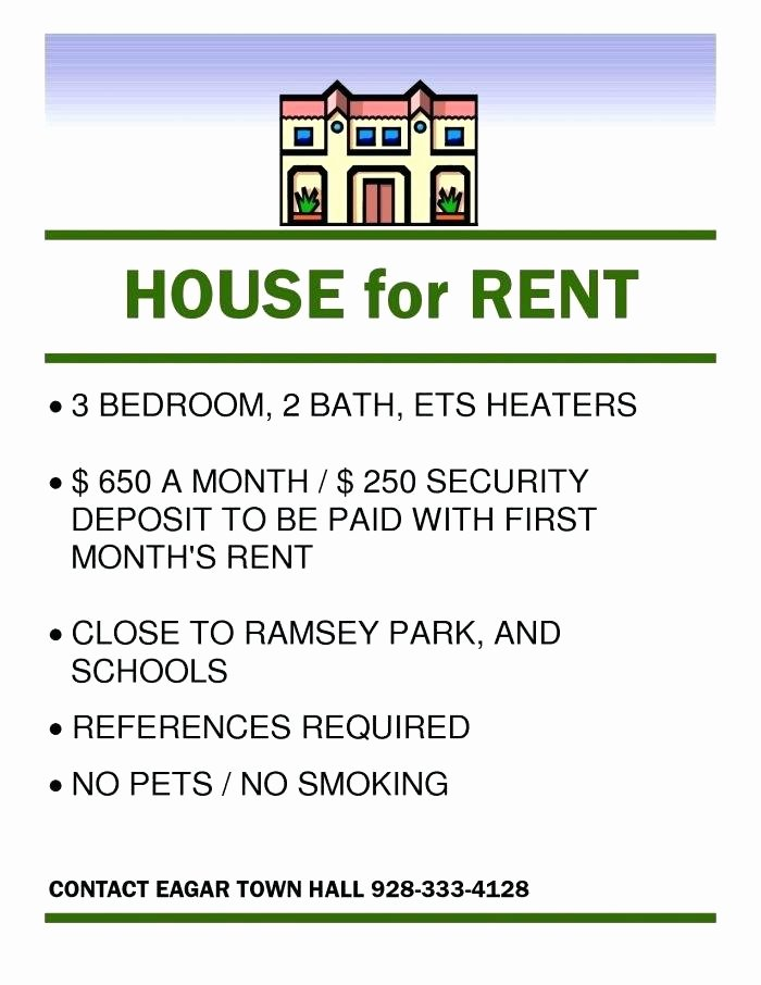 For Rent Flyer Template Free Awesome Rental Advertisement Template House Rental Flyer Template
