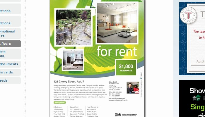 5 house for rent flyer templates