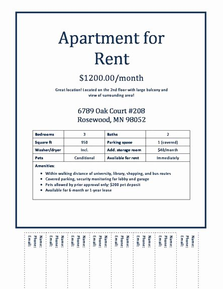 For Rent Flyer Template Free Elegant Apartment Rental Flyer Template Modern Concept Apartments