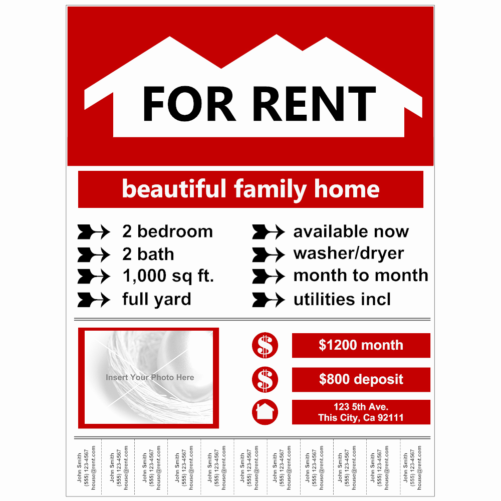 For Rent Flyer Template Free Elegant Flyer Example for Rent
