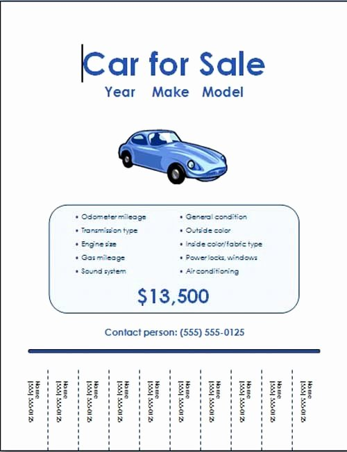 For Rent Flyer Template Free Fresh 5 Free Car for Sale Flyer Templates Excel Pdf formats