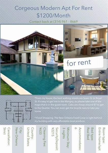 For Rent Flyer Template Free Luxury Apartment for Rent Flyer Template Yourweek 4e4a29eca25e