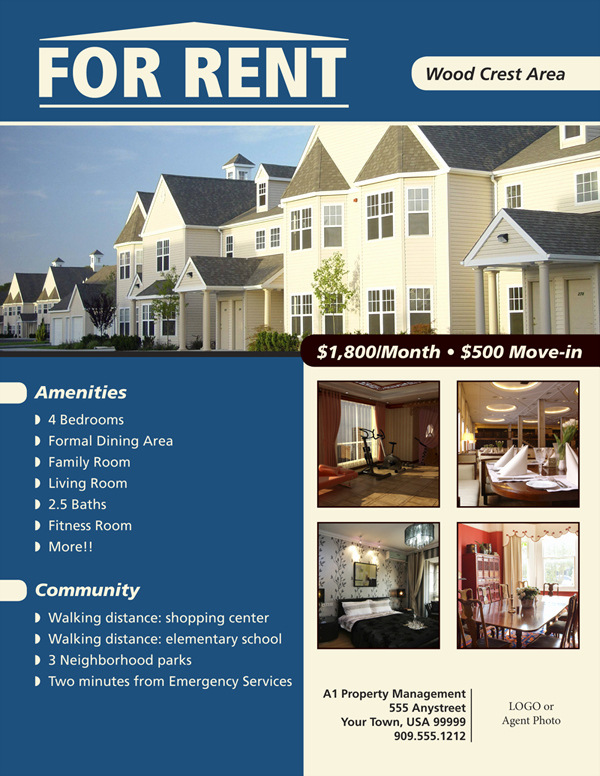 For Rent Flyer Template Free New Flyers for House Renting Flyer