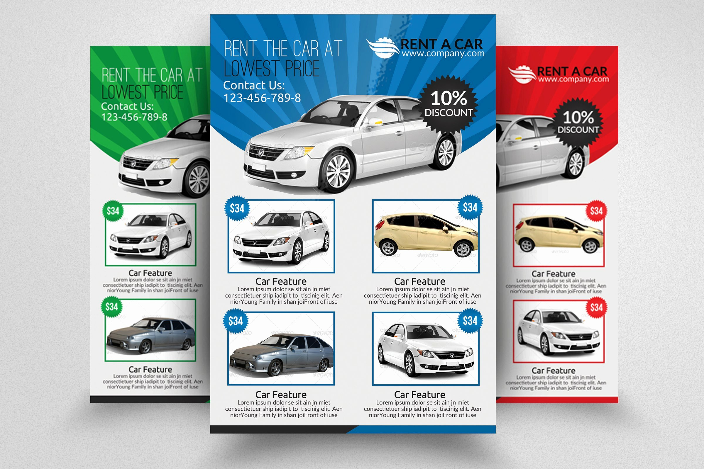 For Rent Flyer Template Free New Rent A Car Flyer Template Flyer Templates Creative Market