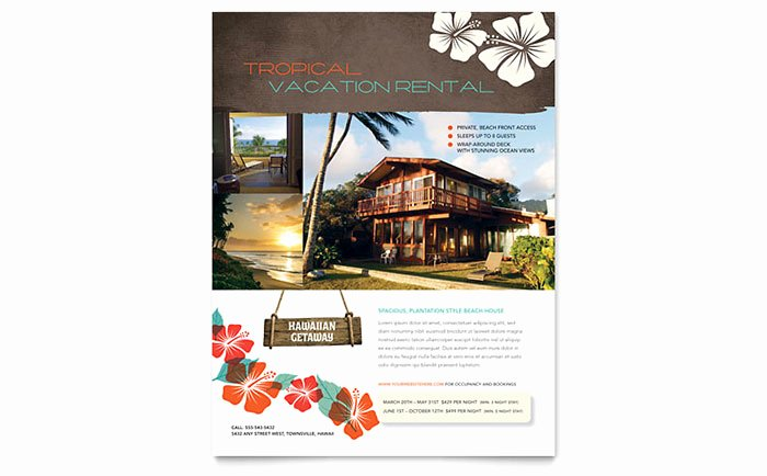 For Rent Flyer Template Free New Vacation Rental Flyer Template Word & Publisher