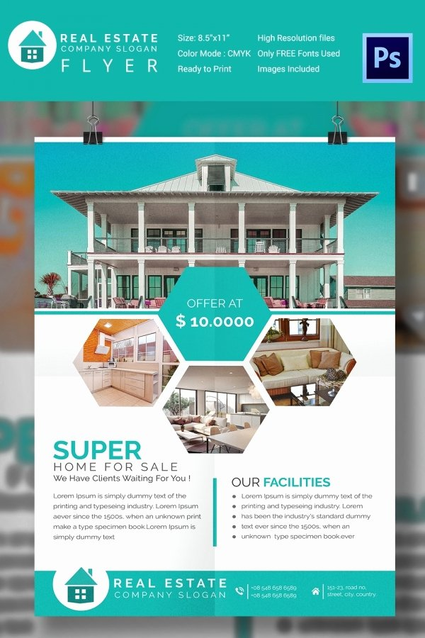 For Sale Flyer Template Awesome 15 Stylish House for Sale Flyer Templates & Designs