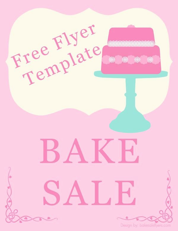 For Sale Flyer Template Awesome Bake Sale Flyer Template