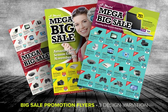 For Sale Flyer Template Awesome Big Sale Promotion Flyer Templates Templates On Creative