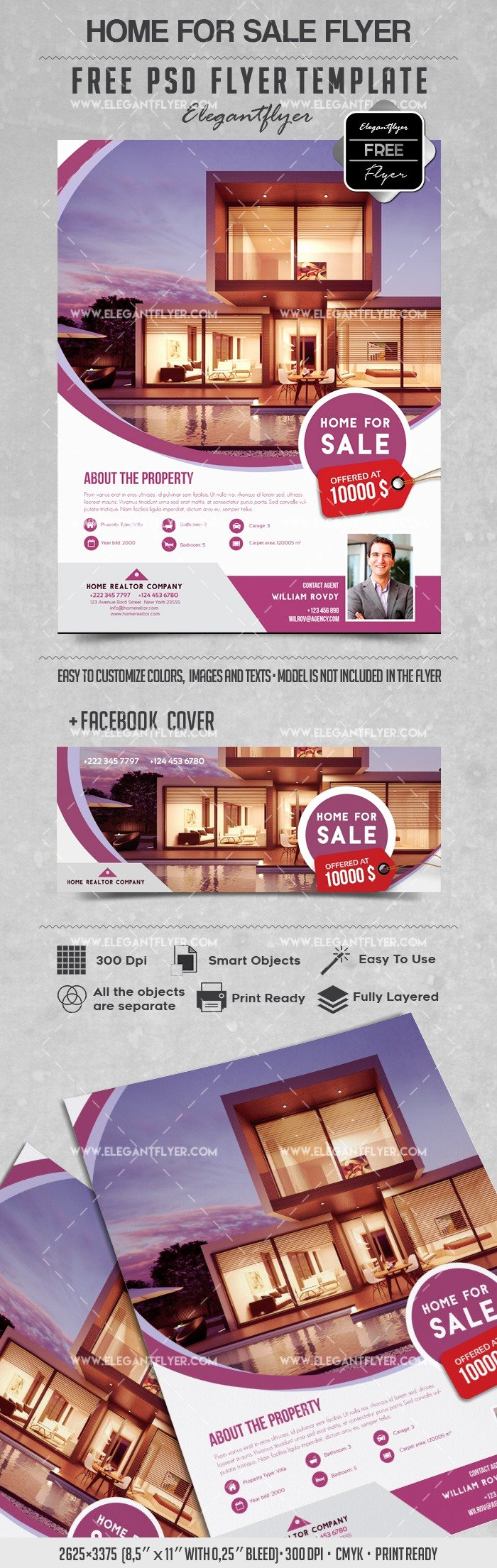 For Sale Flyer Template Awesome Home for Sale – Flyer Psd Template – by Elegantflyer
