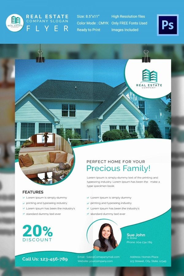 For Sale Flyer Template Beautiful 15 Stylish House for Sale Flyer Templates & Designs