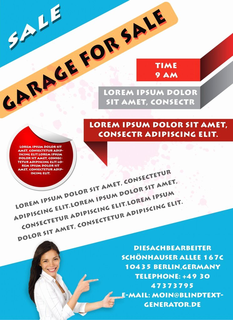 For Sale Flyer Template Beautiful Free Printable Garage Sale Flyers Templates attract More