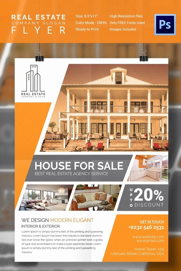 For Sale Flyer Template Best Of 15 Stylish House for Sale Flyer Templates & Designs