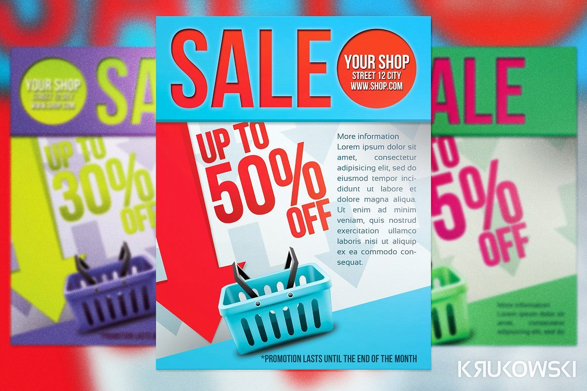 For Sale Flyer Template Elegant Simple Sale Flyer Poster Flyer Templates Creative Market