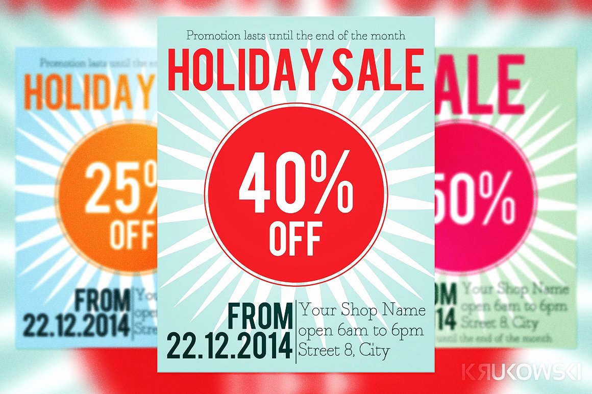 For Sale Flyer Template Fresh Holiday Sale Flyer Flyer Templates Creative Market