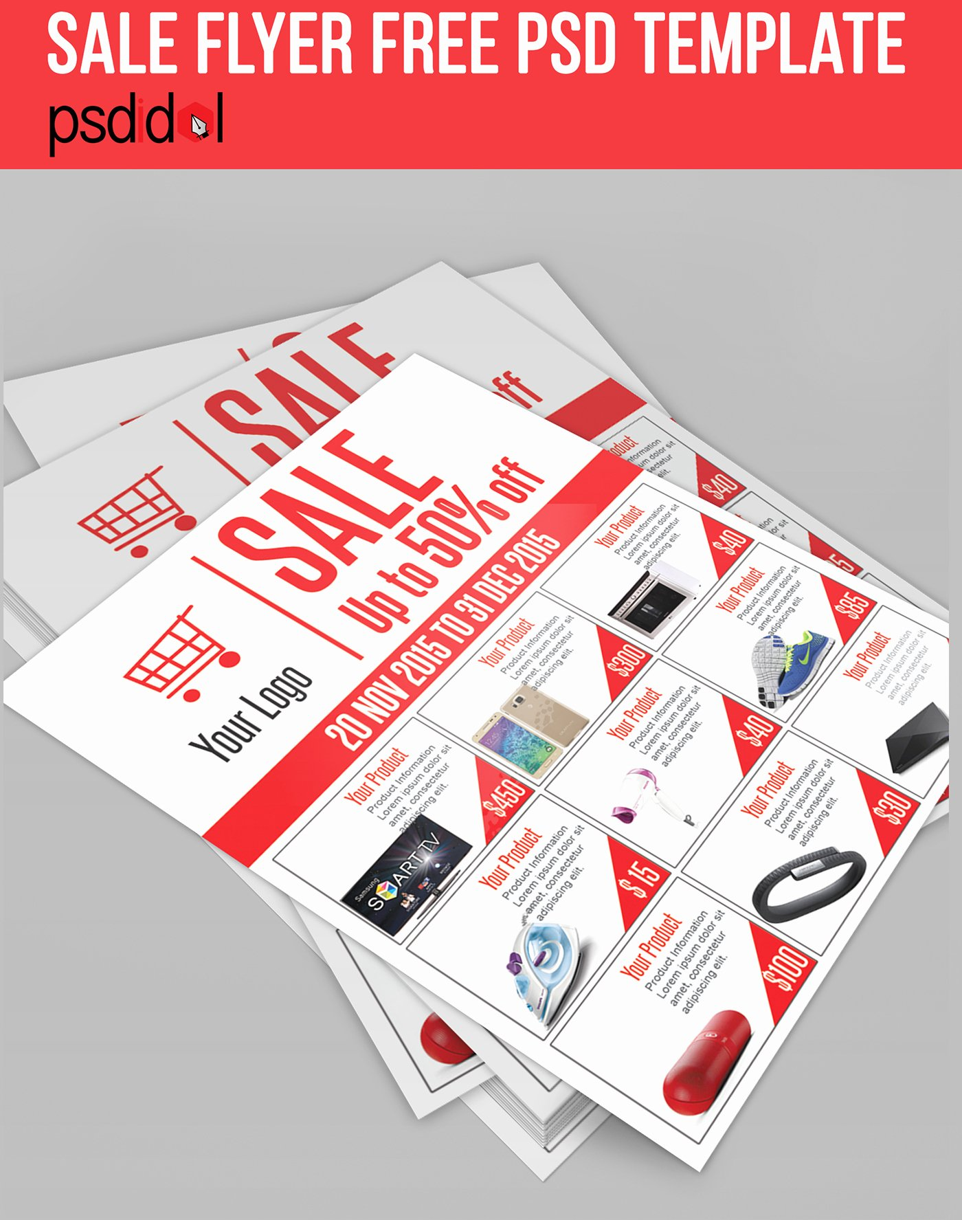 For Sale Flyer Template Lovely Sale Flyer Free Psd Template Download On Behance