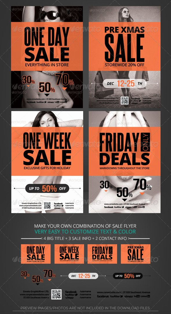 For Sale Flyer Template Luxury Store Sale Flyer Template by Katzeline