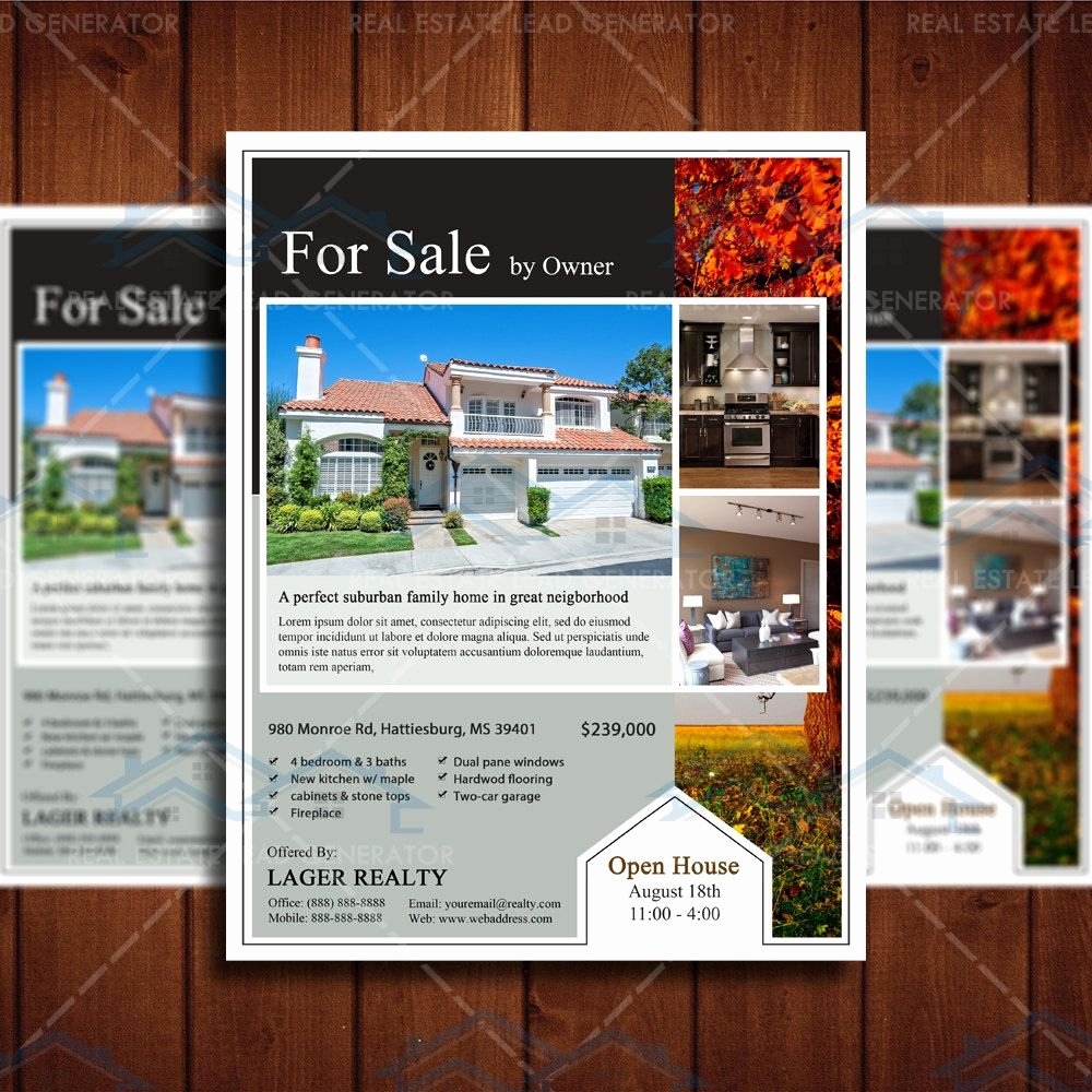For Sale Flyer Template Unique for Sale Real Estate Marketing Open House Flyer Template
