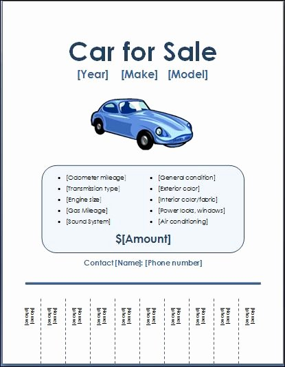 For Sale Flyer Template Unique Sample Car for Sale Poster Flyer Template