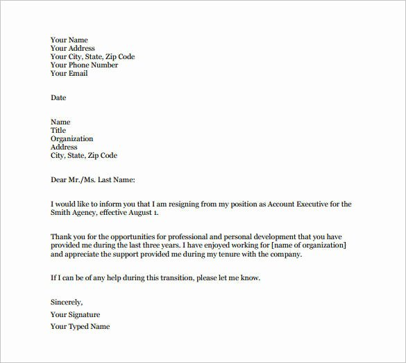 Formal E Mail Template Awesome 23 Email Resignation Letter Templates Pdf Doc