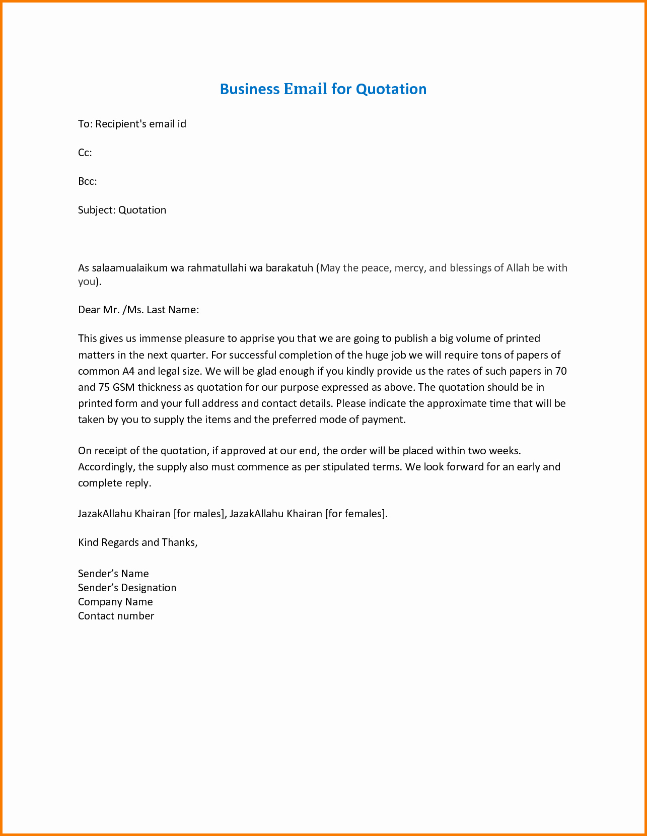 Formal E Mail Template Awesome 4 Business Email format Template