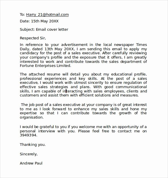 Formal E Mail Template Beautiful 9 Business Letter format Samples