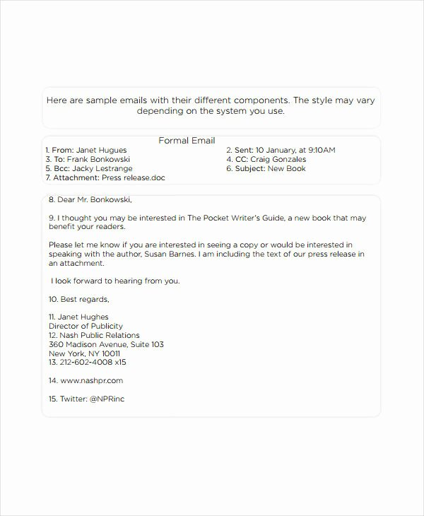 Formal E Mail Template Inspirational 5 formal Email Examples and Samples Pdf Word