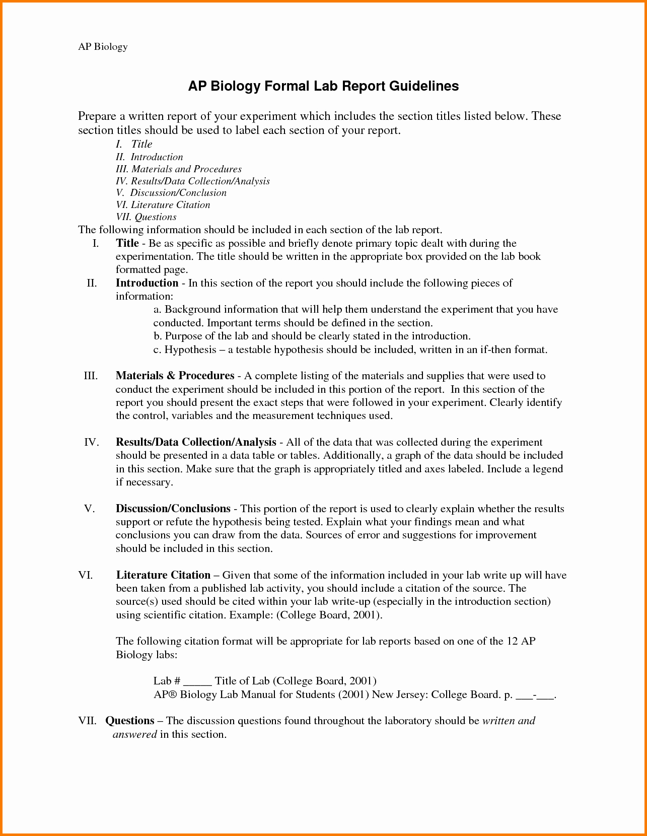 Formal Lab Report Template Inspirational 11 formal Lab Report Template