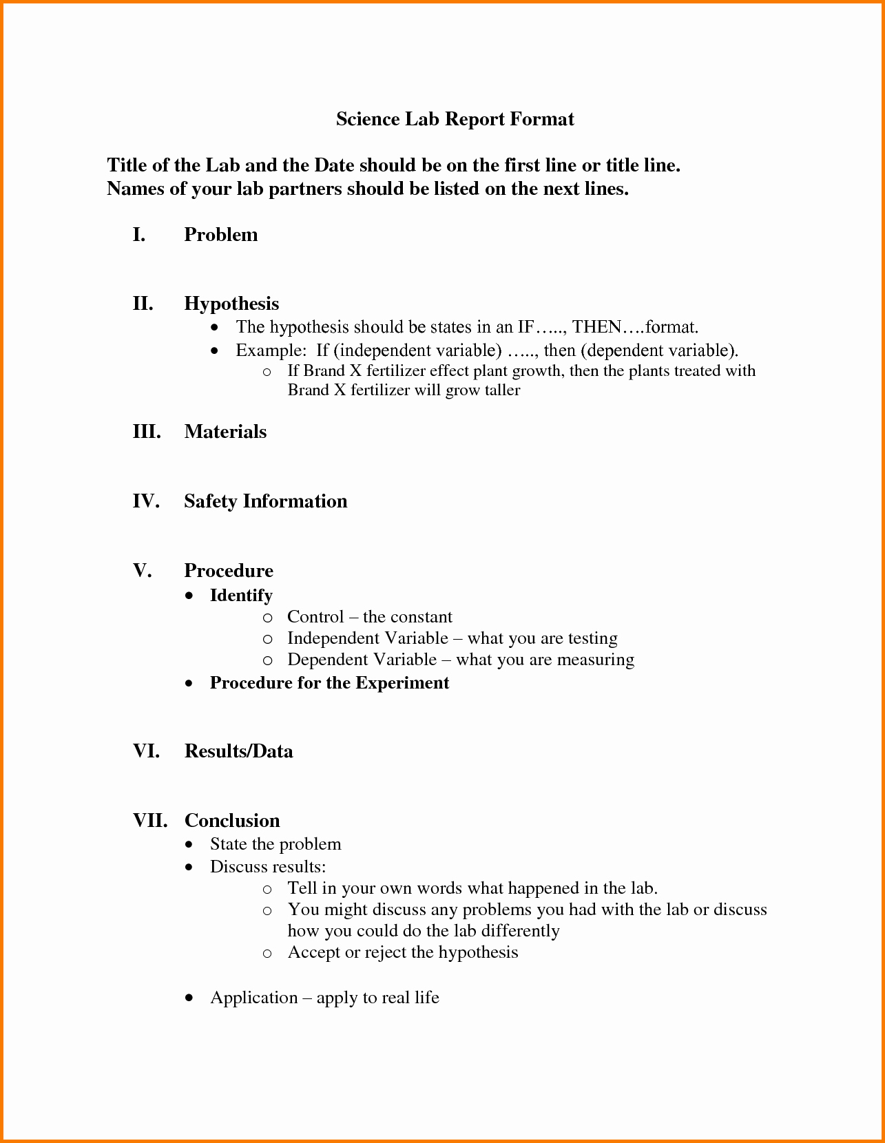 Formal Lab Report Template Luxury Lab Report Sample High School Mfacourses887 Web Fc2