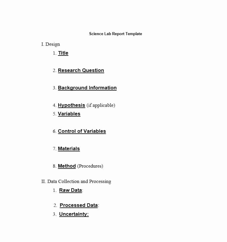 Formal Lab Report Template New 40 Lab Report Templates & format Examples Template Lab