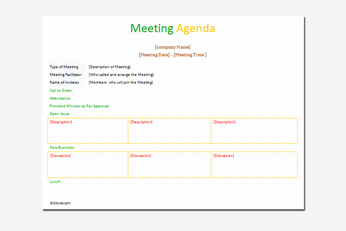 Formal Meeting Agenda Template Best Of Agenda Outline Template 10 for Word Excel Pdf format