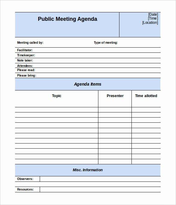 Formal Meeting Agenda Template Luxury 50 Meeting Agenda Templates Pdf Doc